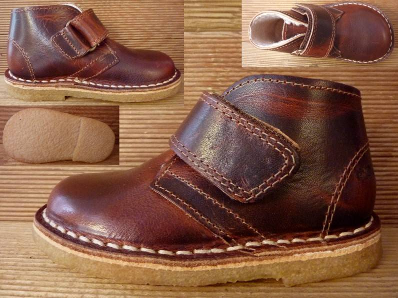 Jolins Schuhe Kal antikbraun/cognac Wollfutter  Gr. 24  Innenmass 14,9 cm