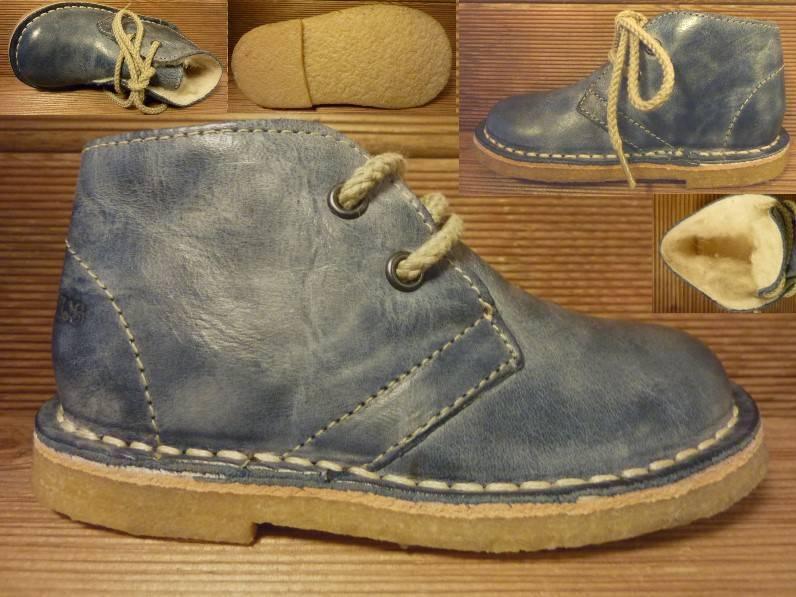 Jolins Schuhe KOEL Gr. 24 mit Schurwollfutter jeans/petrol Innenmass 15,0 cm