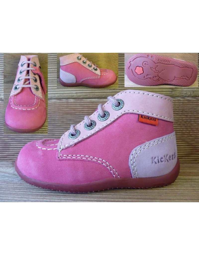 Kickers Schuhe Bonbon fuchsia/rose/flieder Gr.23  Innenmass 13,7 cm statt 67Euro
