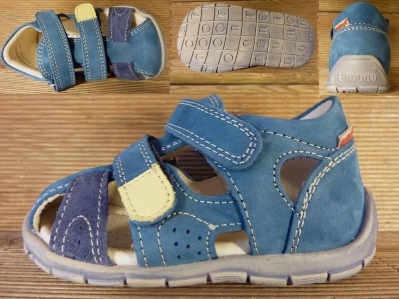 Froddo Kinderschuhe Kindersandale Leder Lauflerner jeans blau Gr.20   Innenmass 12,5 cm