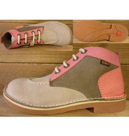 Kickers Schuhe Jeansboot Low grau-kiesel-rosa Gr. 36