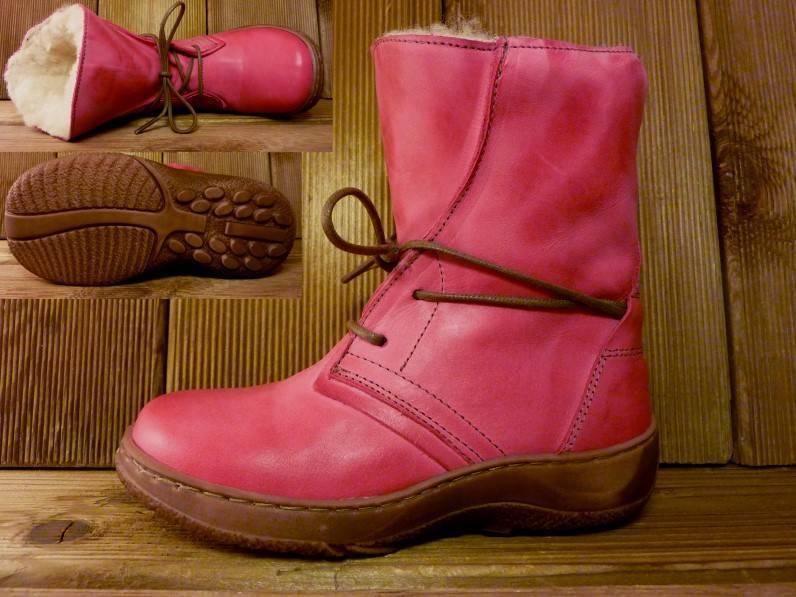 Double You Schuhe by Dessy Kinderstiefel pink/fuchsia Gr.31 Innenmass 19,3 cm Wollwarmfutter