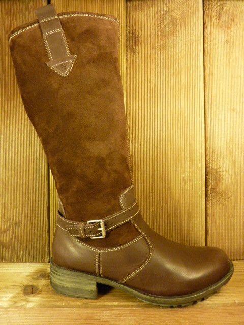 Josef Seibel Schuhe Damenstiefel Sandra mit warmen Winterfutter braun Gr.38 Schafthöhe 34cm Umfang 37 cm