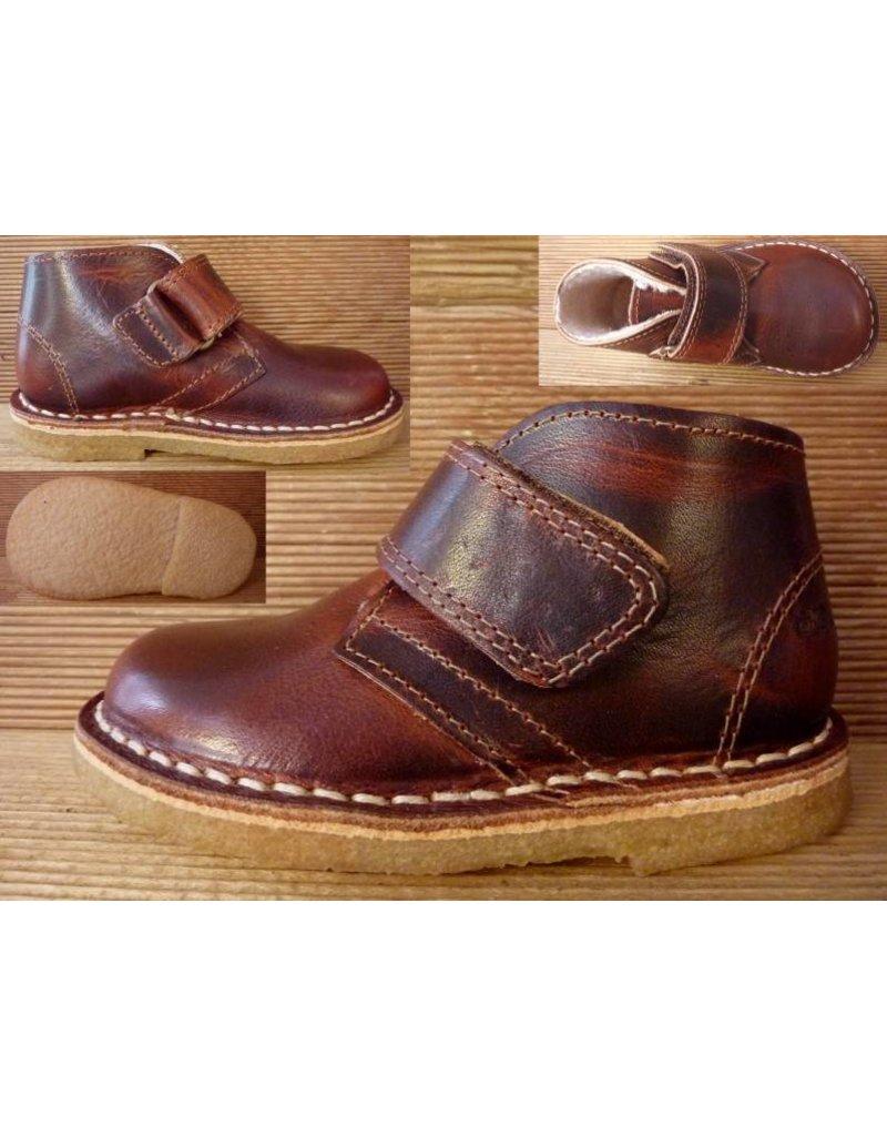 Jolins Schuhe Kal antikbraun/cognac Wollfutter Gr. 21 Innenmass 13,3 cm Boots mit Klettverschluss