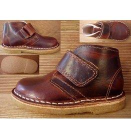 Jolins Schuhe Kal antikbraun/cognac Wollfutter Gr. 20 Innenmass 12,9 cm Boots mit Klettverschluss