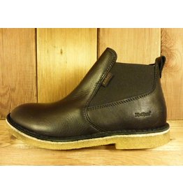 Kickers Schuhe Knox schwarz mit echter Kreppsohle Chelseaboots