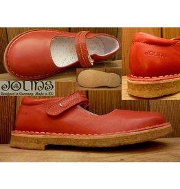 Jolins Schuhe Ballerina Celia rot/red  pflanzlich gegerbt Naturkreppsohle