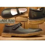 Jolins Schuhe Ballerina Celia schwarz pflanzlich gegerbt Naturkreppsohle auch für Einlagen, Hallux oder breite Füsse