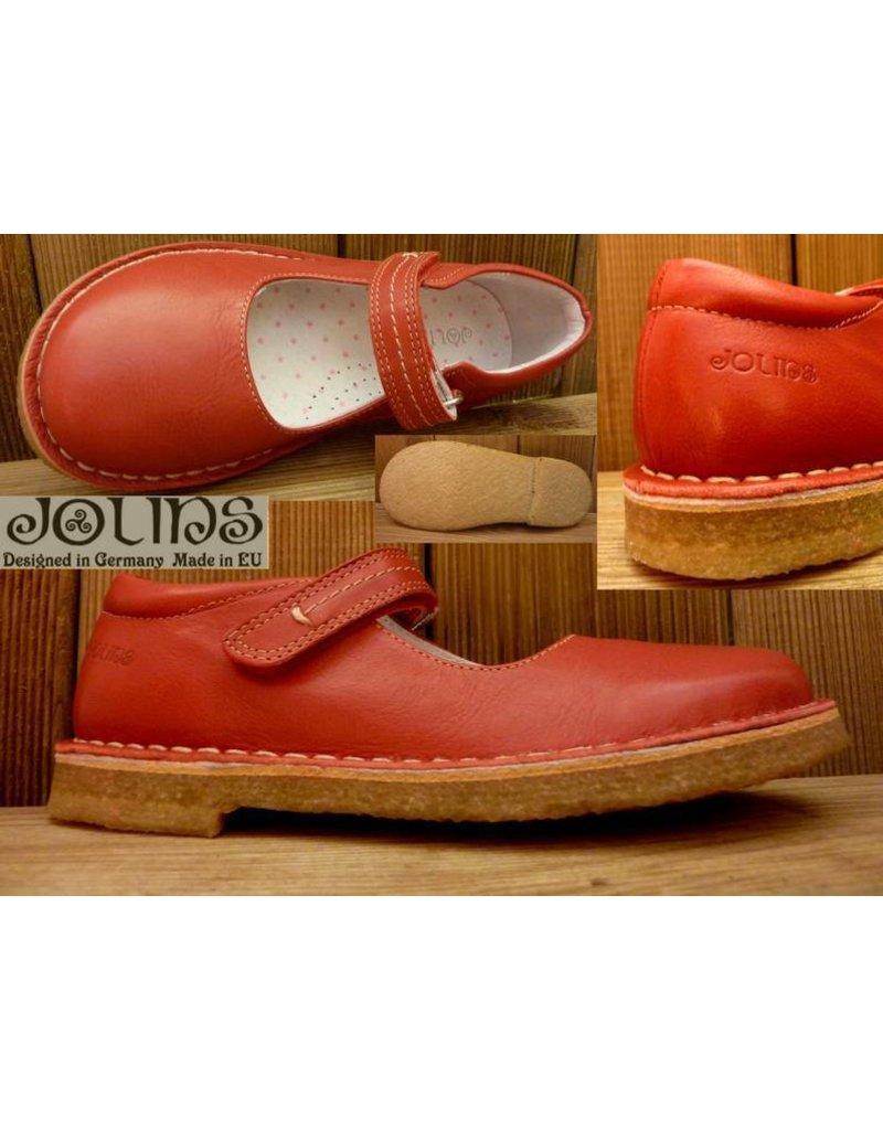 Jolins Schuhe Ballerina Celia rot Gr. 32 Innenmass 20,7 cm Kreppsohle und pflanzliche Gerbung