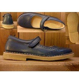 Jolins Schuhe Clare dunkelblau Gr. 28 Innenmaß 17,8 cm auch für Einlagen geeignet Kreppsohle vegetabil gegerbt