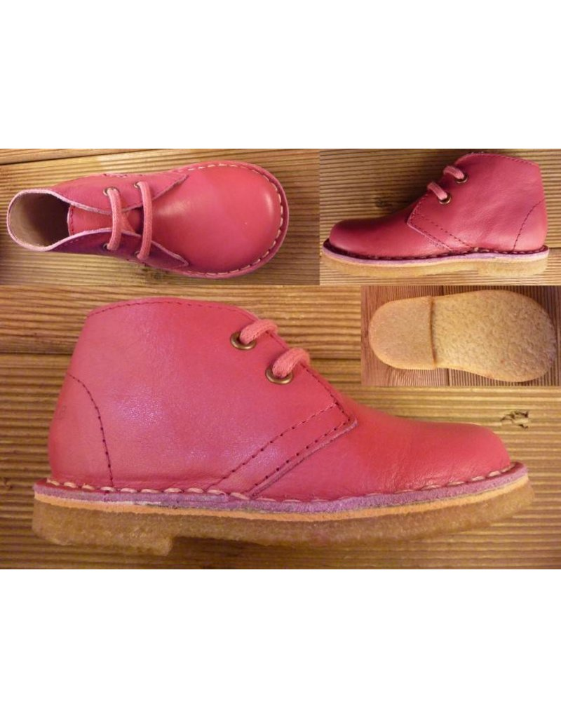 Jolins Schuhe Kinder Boots KOEL fuchsia Gr. 20 Innenmass 13,2 cm pflanzliche Gerbung, Echte Kreppsohle aus Naturkautschuk