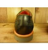 AMBITIOUS Schuhe Schuhe nicht nur für Herren zum Schnüren nachtblau anthrazit - Budapester mit Filzeinsatz