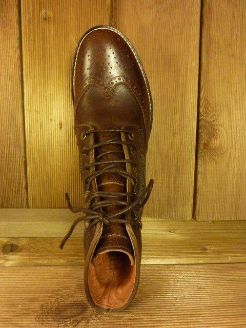 AMBITIOUS Schuhe Stiefeletten nicht nur für Herren zum Schnüren braun grau Gr. 39 Budapester mit Filzeinsatz