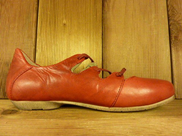Josef Seibel Schuhe Ballerina Fiona rot Wechselfussbett für Einlagen Schuhe Damen