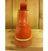 AMBITIOUS Schuhe Herrenstiefeletten zum Schnüren rot bordeaux orange Budapester Schnürer nicht nur für Herren