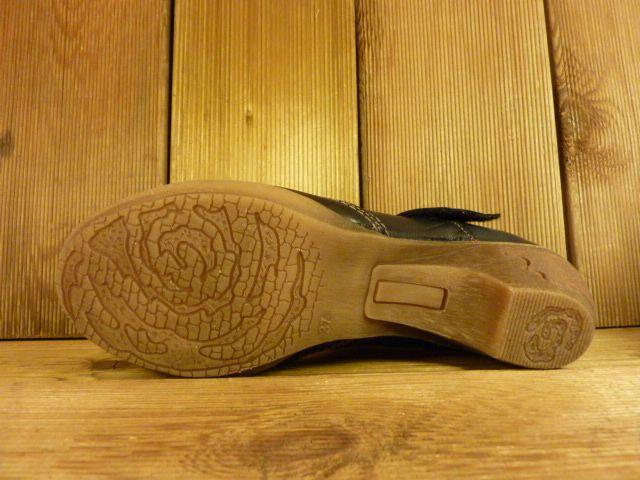 Double You Schuhe by Dessy Spangenschuh schwarz mit Stickerei Ballerina Pumps Damenschuhe