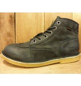 Kickers Schuhe Kick Legend schwarz noir Boots Damen Herren mit Kreppsohle und weichem Nubukleder