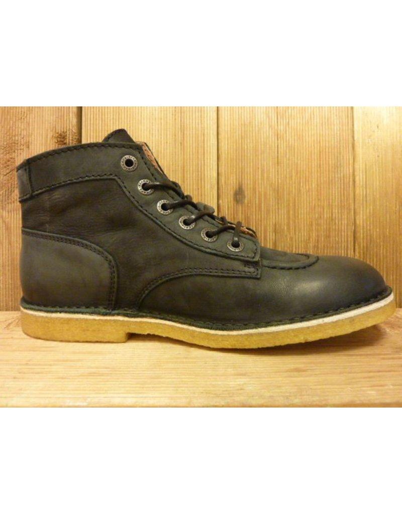 Kickers Schuhe Kick Legend Boots schwarz noir Damen Herren mit Kreppsohle und weichem Nubukleder