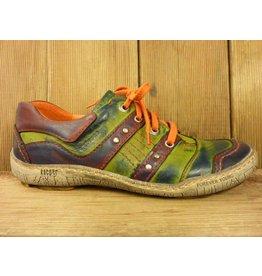 Kacper Schuhe Schuhe grün lila orange mit Lederfutter Sportschuhe Sneaker bunt