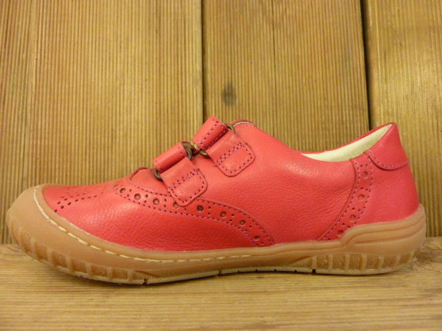 Froddo Kinderschuhe Mädchen Sneaker pink aus Kinderschuhe Klett Budapester Muster pflanzlich gegerbt