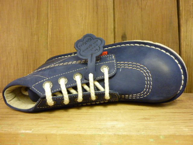 Kickers Schuhe Boots Neo Rallye marine Nubuk Schnürboots Kinder