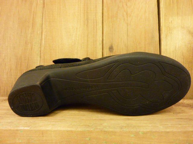 Loints of Holland Pumps Klett schwarz extra dickes und weiches Leder mit Wechselfussbett