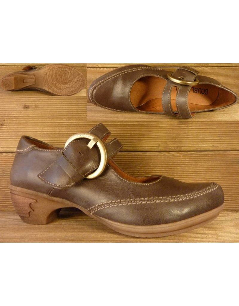 Double You Schuhe by Dessy Spangenschuh mocca Groesse 37