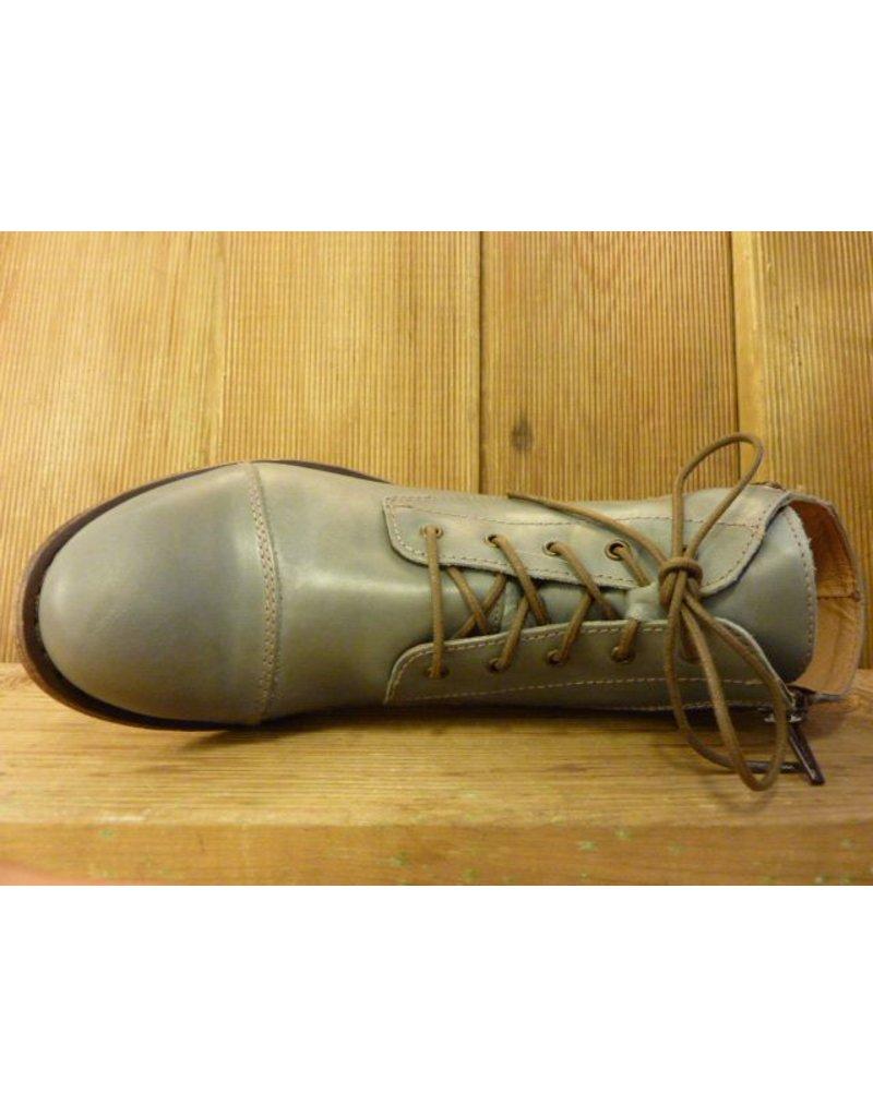 Double You Schuhe by Dessy Stiefeletten grau Schnürung Reissverschluss