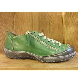 Double You Schuhe by Dessy Sneaker Sportschuhe grün grau aus Leder Schuhe Damen