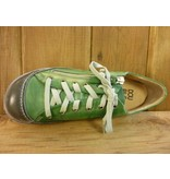 Double You Schuhe by Dessy Schuhe Sneaker Sportschuhe grün grau vegetabil pflanzlich gegerbtes Futter aus Leder Wechselfussbett
