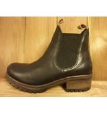 Lazamani Schuhe Stiefeletten schwarz Chelsea Plateauabsatz