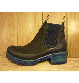 Lazamani Schuhe Stiefeletten Schlupf schwarz bleu Chelsea Plateauabsatz