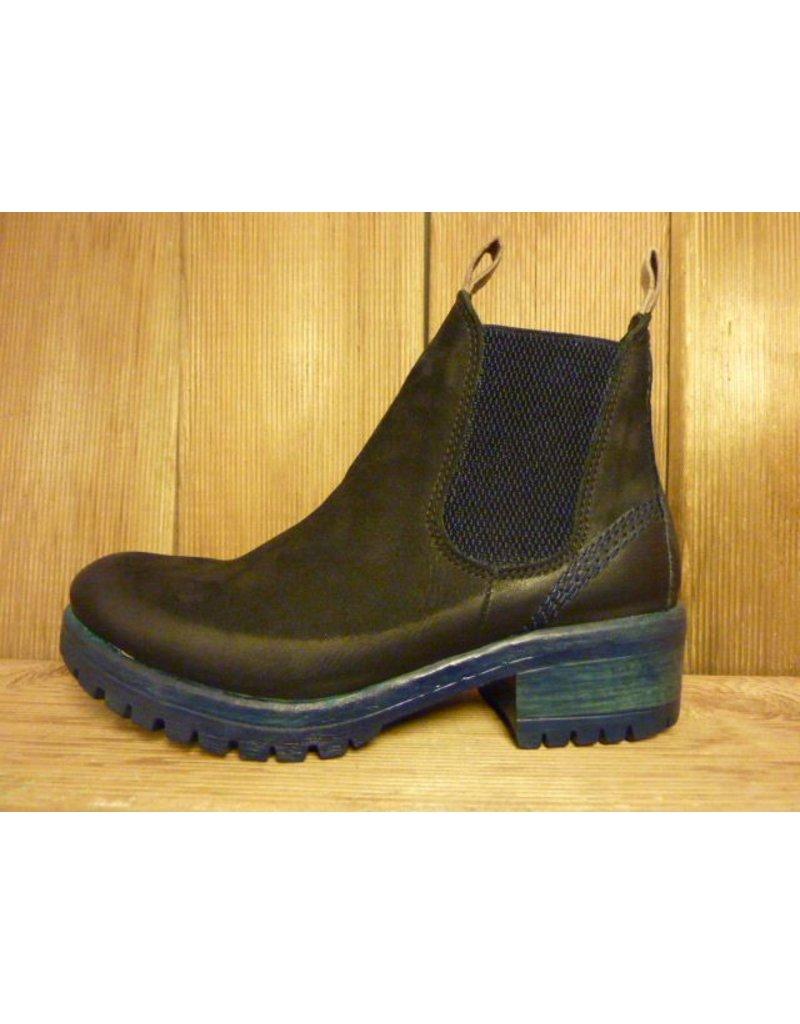 Lazamani Schuhe Stiefeletten dunkelblau Chelsea Plateauabsatz