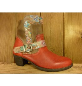 Double You Schuhe by Dessy Stiefeletten rot Blumen RV