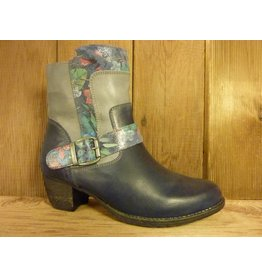 Double You Schuhe by Dessy Stiefeletten blau Blumen RV