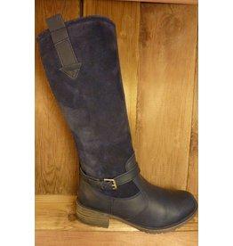 Josef Seibel Schuhe Stiefel mit warmen Winterfutter blau  auch für Einlagen