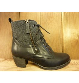 Double You Schuhe by Dessy Stiefeletten schwarz Schnürung Reißverschluss