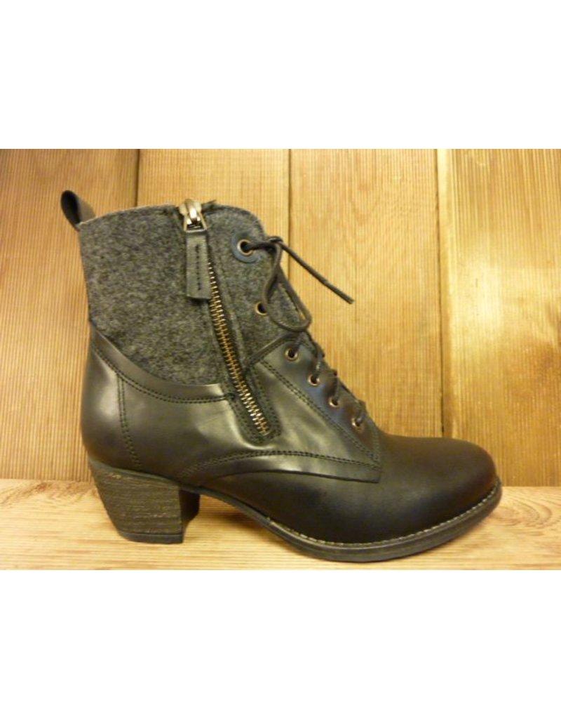 stiefeletten schwarz schn rung reissverschluss shoes4us. Black Bedroom Furniture Sets. Home Design Ideas