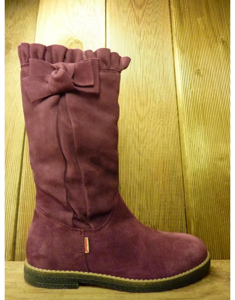 Froddo Kinderschuhe Froddo Mädchen Stiefel violet Rüschen Schleife Reißverschluss