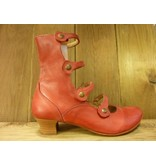 Double You Schuhe by Dessy Double You hohe, rote Pumps mit Absatz und pflanzlich gegerbtem Innenfutter