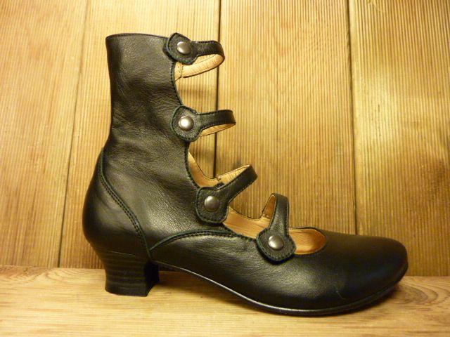 Double You Schuhe by Dessy Double You hohe, schwarze Pumps mit Absatz und pflanzlich gegerbtem Innenfutter
