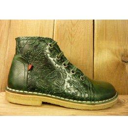 Grünbein Schuhe Boots Tessa grün mit Ranken