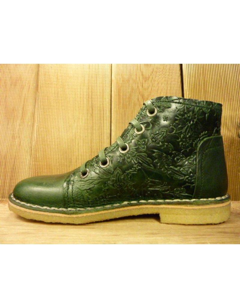 Grünbein Schuhe Schnürschuhe grün auch für Einlagen Lederschuhe Ranken Kreppsohle