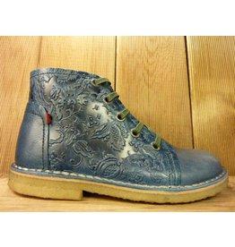 Grünbein Schuhe Boots Tessa blau mit Ranken