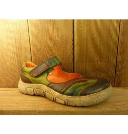 Kacper Schuhe Ballerina grün lila orange mit Lederfutter bunt