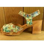 Grünbein Schuhe Sandalette Betty Plateau Blumen bunt floral Leder flexible Holzsohle
