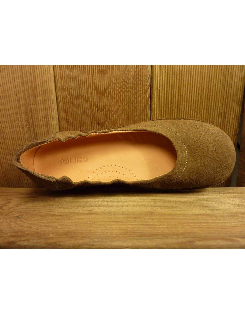 Jolins Schuhe Ballerina Carla beige pflanzlich gegerbtes Leder echte Naturkreppsohle