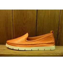 Double You Schuhe by Dessy orange Mokassins Damen pflanzlich gegerbtes Lederfussbett