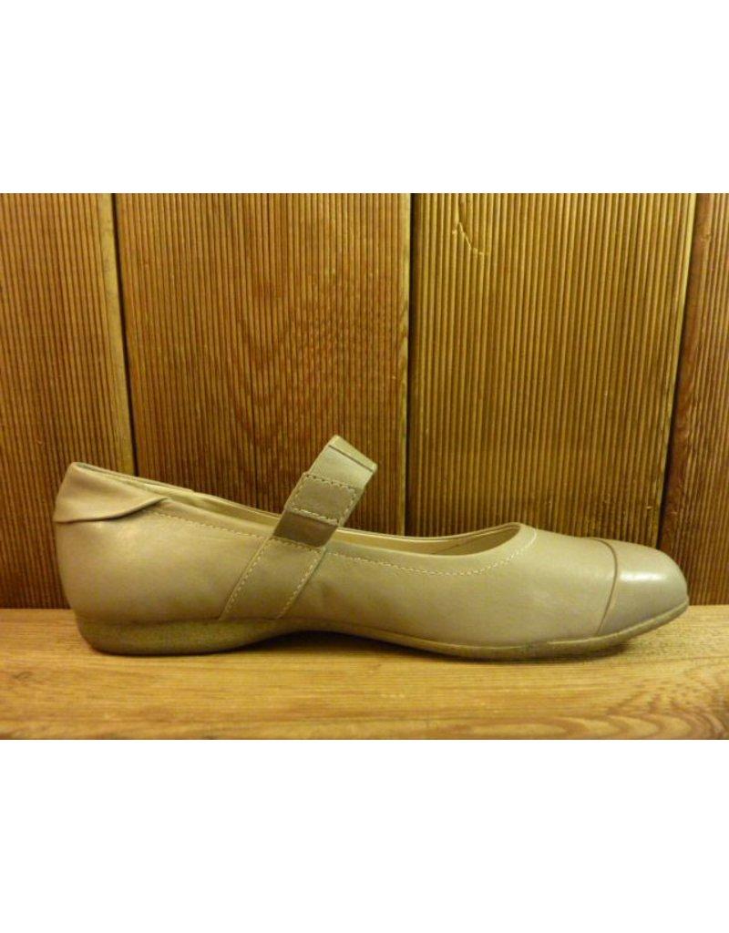 Josef Seibel Schuhe Graue Ballerinas mit elastischem Riemen