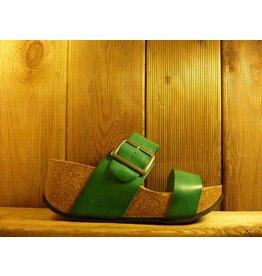 Double You Schuhe by Dessy Grüne Sandaletten mit Plateauabsatz